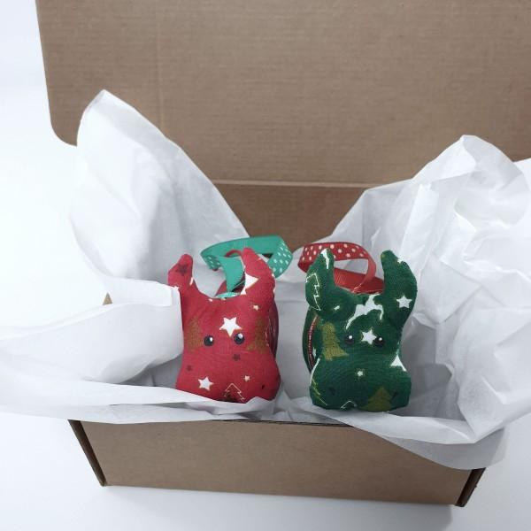 Бычки - набор елочных игрушек