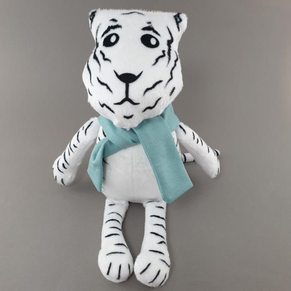 М'яка іграшка Тигр в блакитному шалику