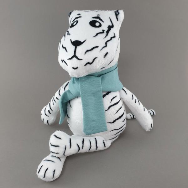 Мягкая игрушка Тигр в голубом шарфике