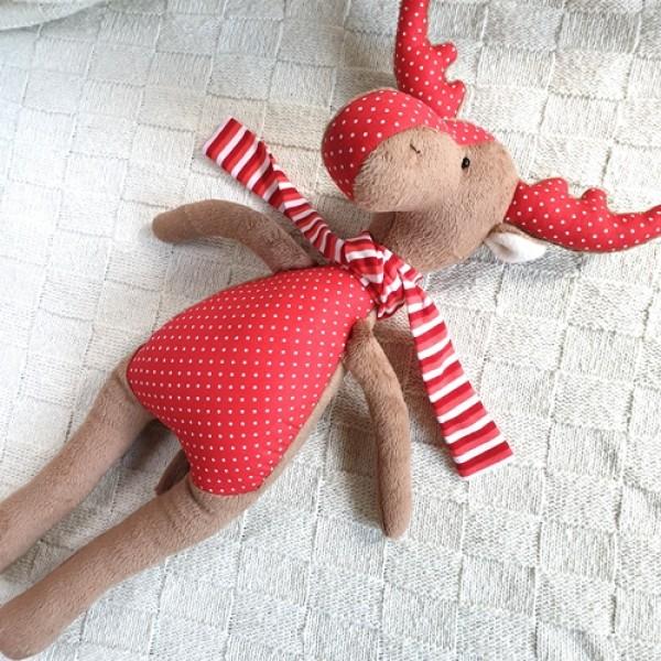 Мягкая игрушка Лось Красный