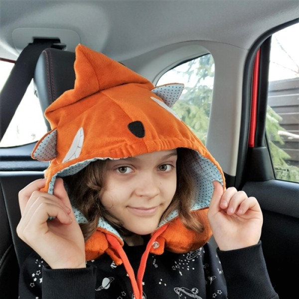 """Neck pillow with hood """"Fox"""""""