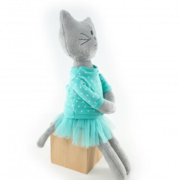 Мягкая игрушка Кошечка серая Пеперминт