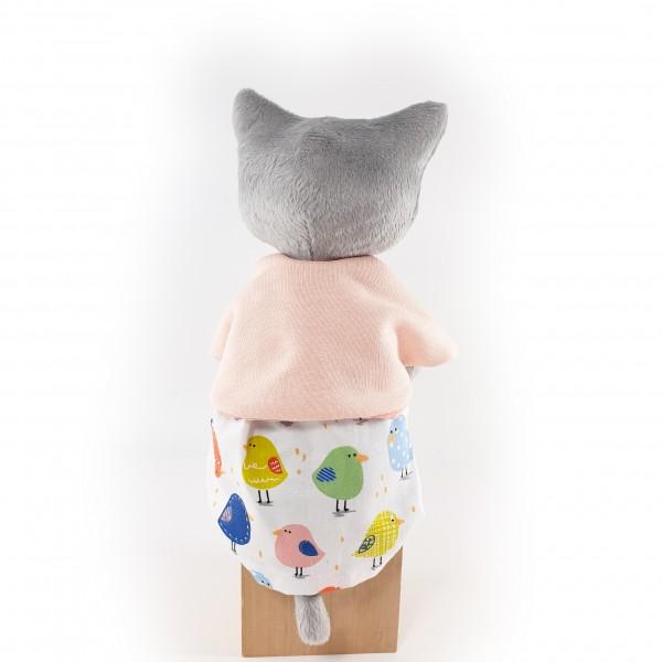 М'яка іграшка Киця сіра Пудра