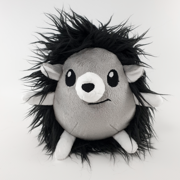 Stuffed toy Black and white hedgehog