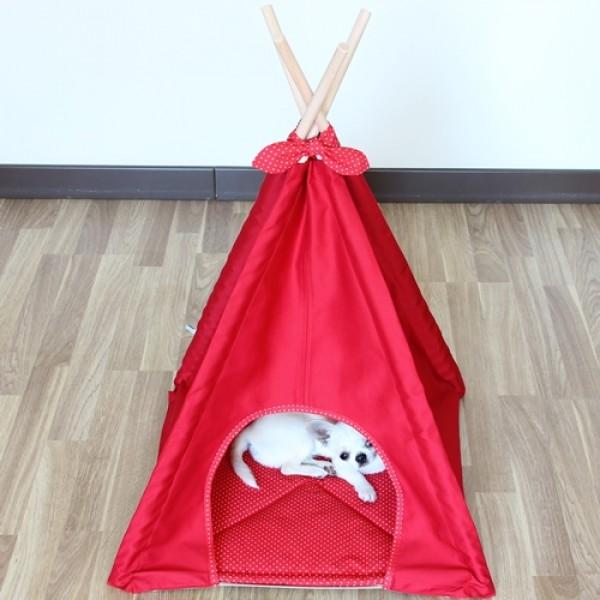 Вигвам для животных красный