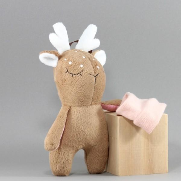 Мягкая игрушка Олененок розовый