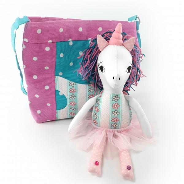 Handbag with unicorn 1